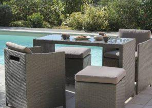 Amazing Salon De Jardin Capri Luxe Gris de Design - Idées de design ...