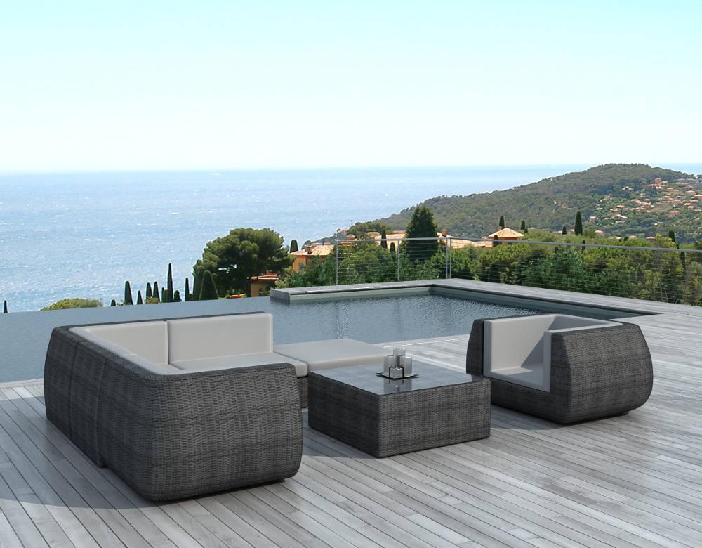 Salon de jardin resine blanc design - Mailleraye.fr jardin