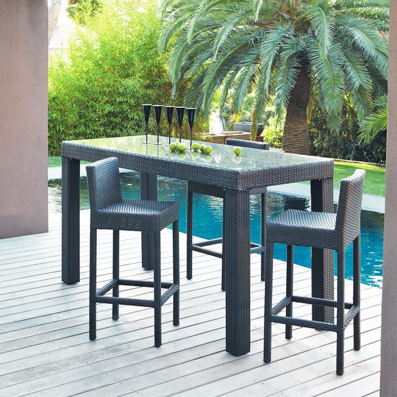 salon de jardin r sine tress e maison du monde jardin. Black Bedroom Furniture Sets. Home Design Ideas