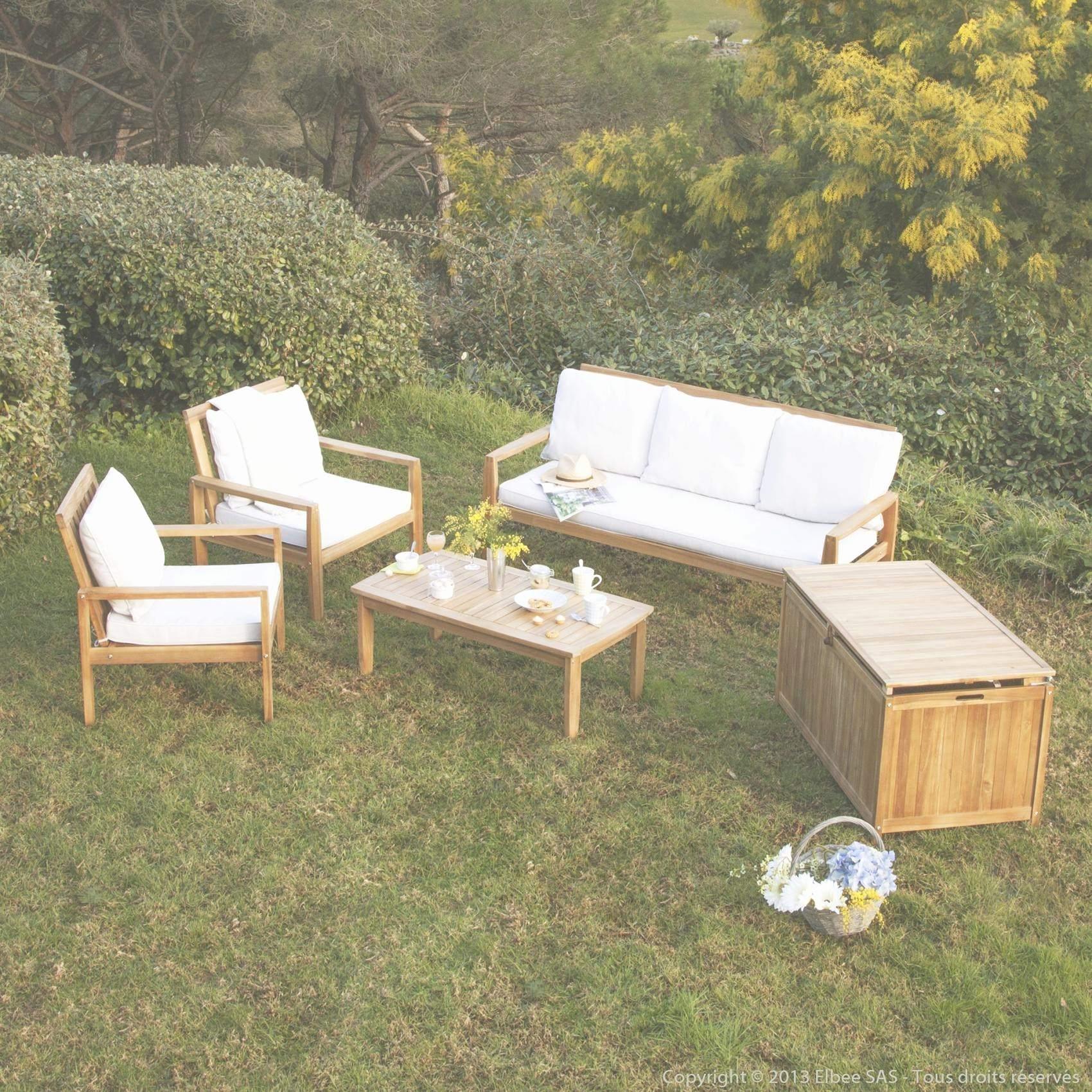 Salon de jardin teck monsieur bricolage - Mailleraye.fr jardin
