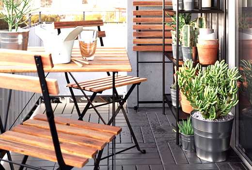 Mobilier jardin bois ikea