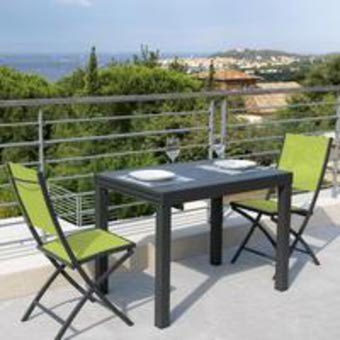 Salon de jardin en résine pour balcon - Mailleraye.fr jardin