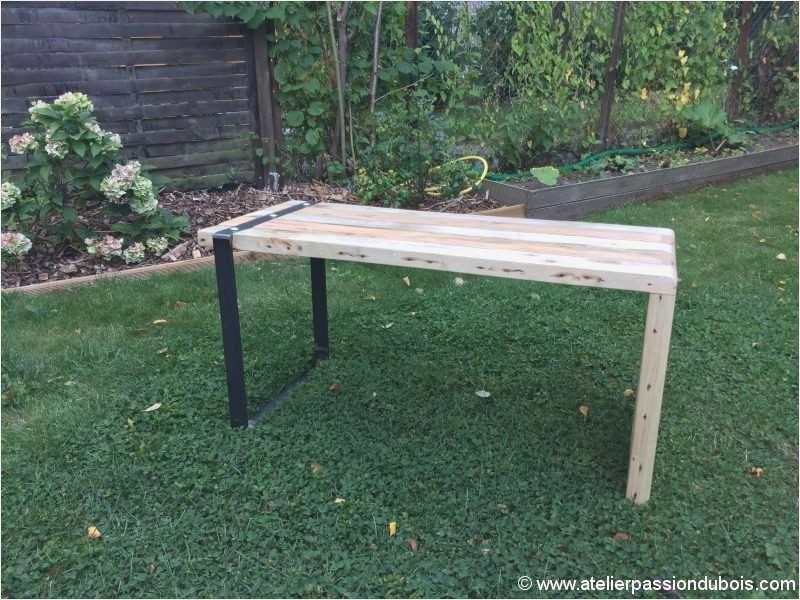 Table de salon de jardin en bois - Mailleraye.fr jardin