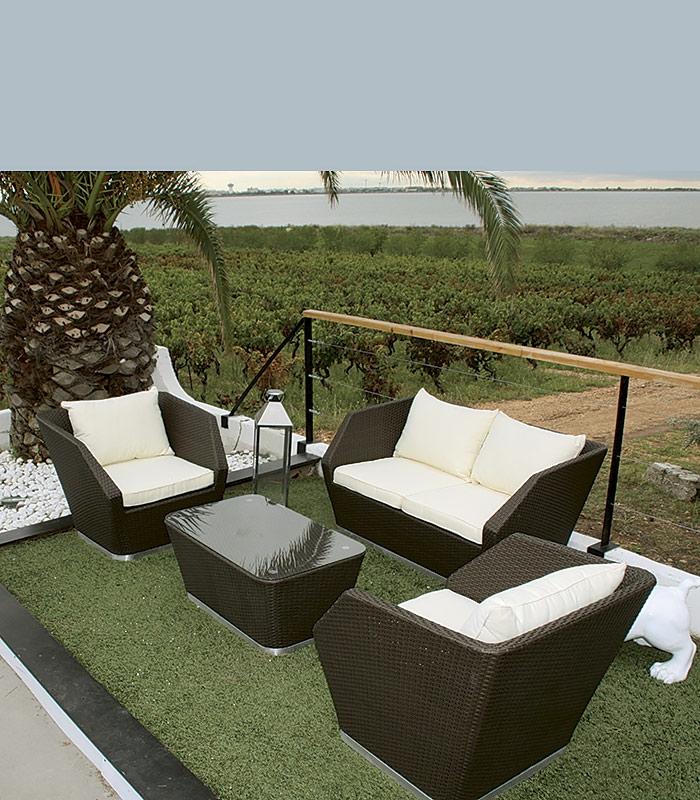 Salon de jardin en resine pas trop cher