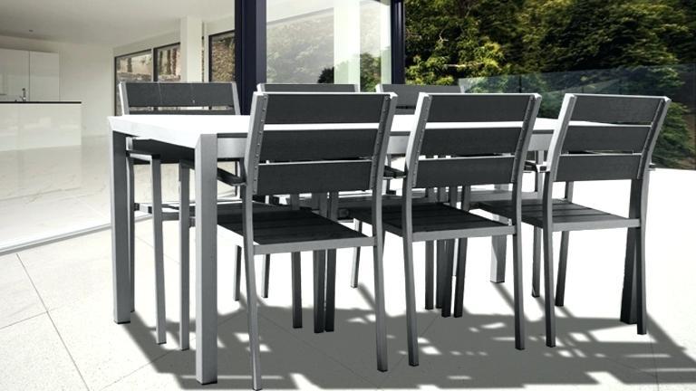 Salon de jardin métal et verre table + 6 chaises ...