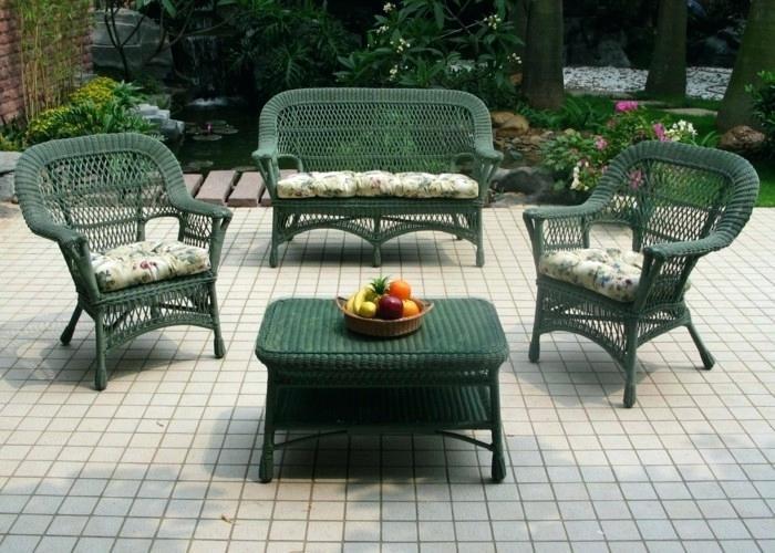 Salon de jardin en rotin vintage - Mailleraye.fr jardin