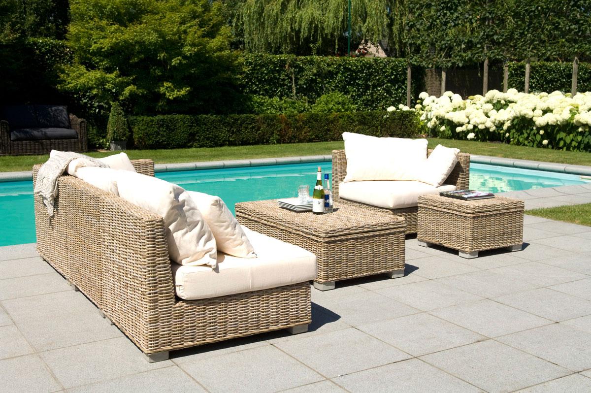 Table de jardin en rotin - Mailleraye.fr jardin