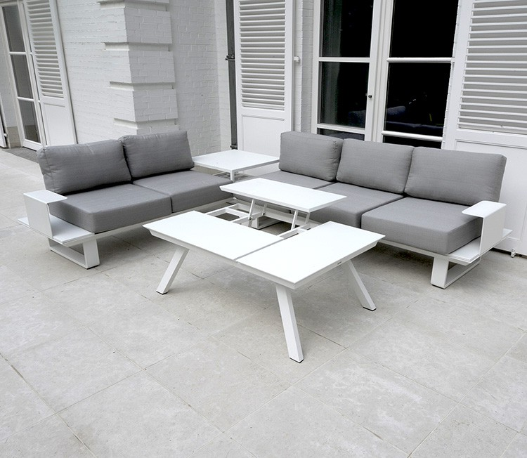 Salon De Jardin Aluminium Blanc | aifoon