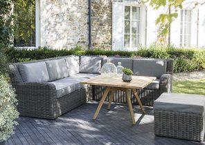 Salon de jardin 7 places en résine tressée milano - Mailleraye.fr jardin