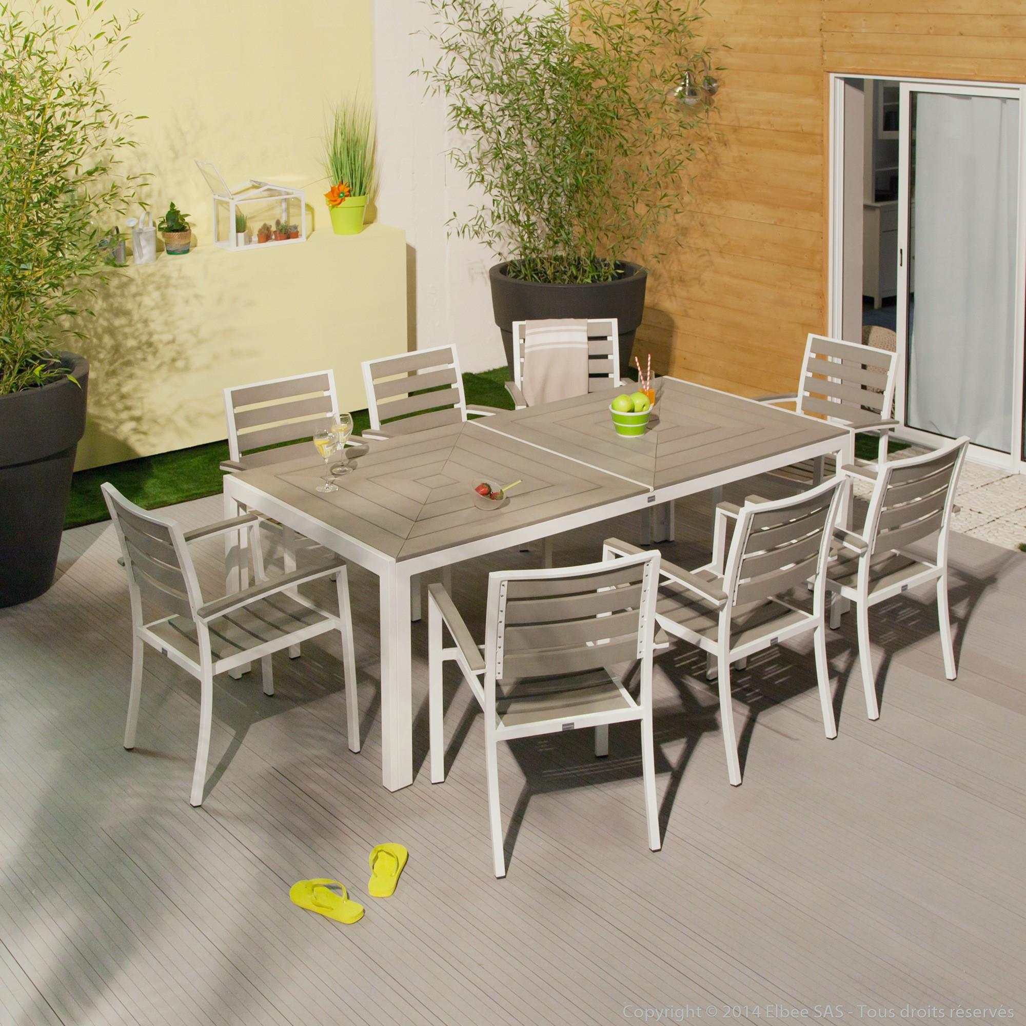 Salon de jardin en aluminium jardiland - Mailleraye.fr jardin