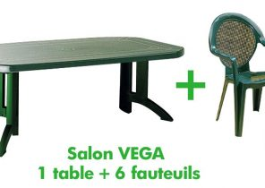 Salon de jardin en plastique taupe - Mailleraye.fr jardin