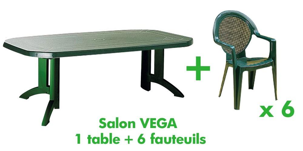 Table salon de jardin en plastique - Mailleraye.fr jardin