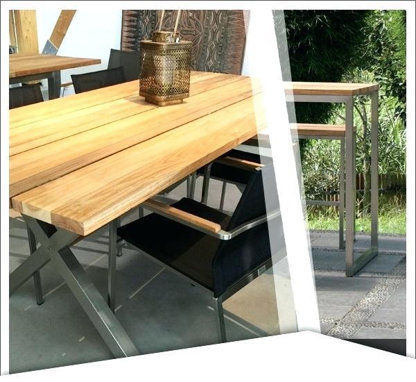 Table salon de jardin inox