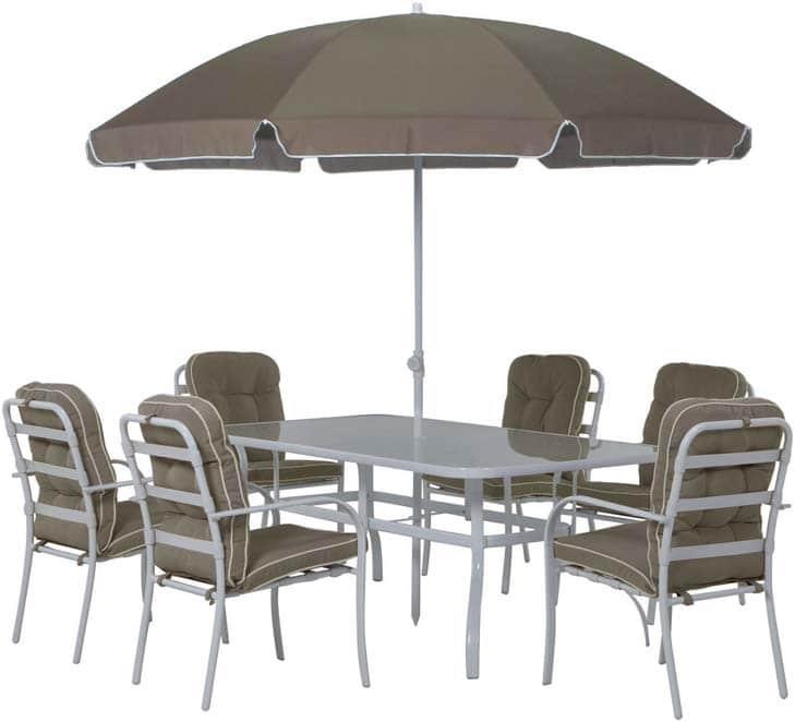 Salon de jardin avec parasol pas cher