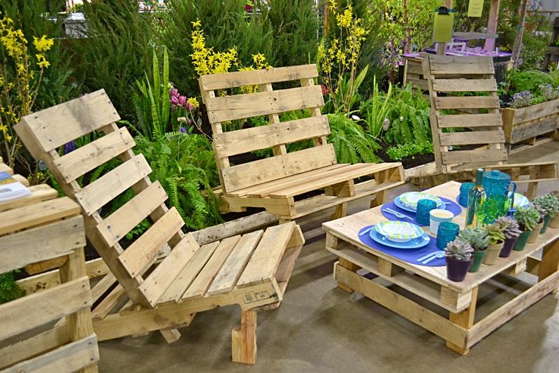 Petit salon de jardin en palette - Mailleraye.fr jardin