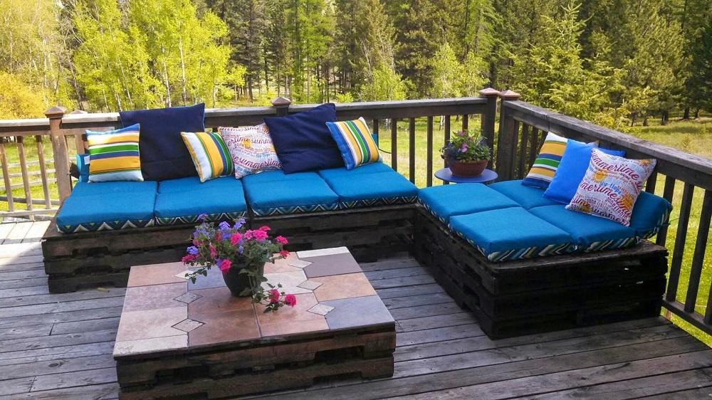 Fabriquer un salon de jardin avec des palettes - Mailleraye.fr jardin