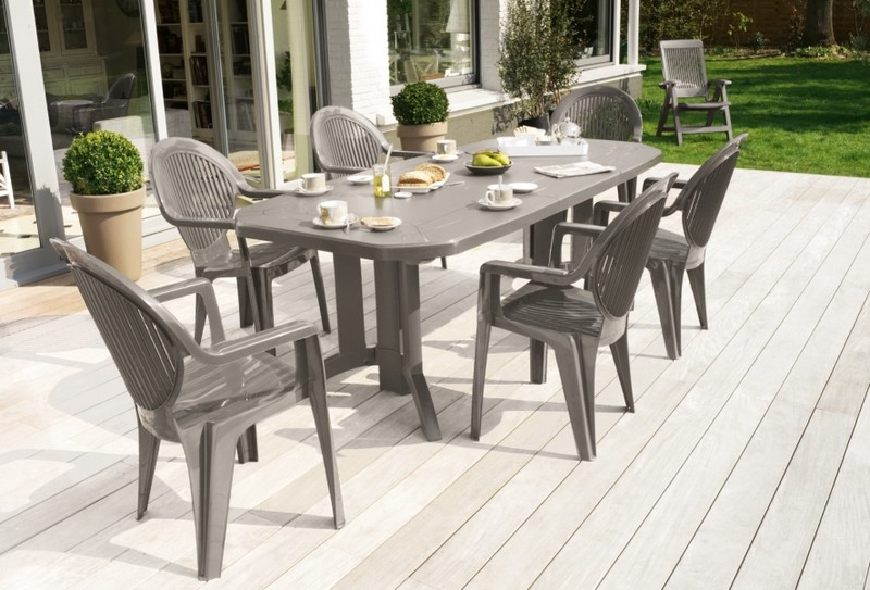 Beautiful Table De Jardin Pvc Couleur Ideas - House Design ...