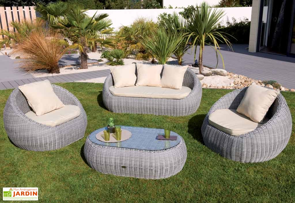 Salon de jardin en resine avec table ovale - Mailleraye.fr jardin