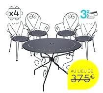 Best Salon De Jardin Metal Romantique Ideas - House Design ...