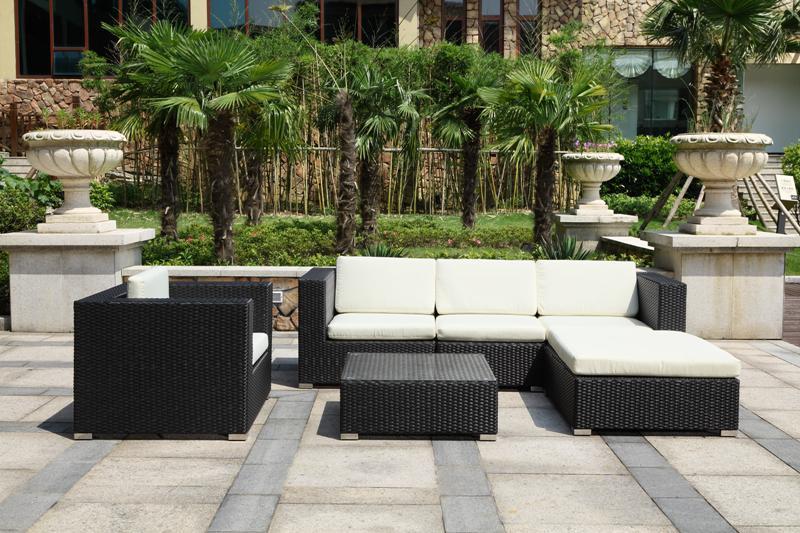 Salon de jardin resine noir design