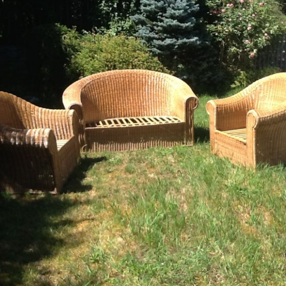 Salon de jardin en osier occasion - Mailleraye.fr jardin