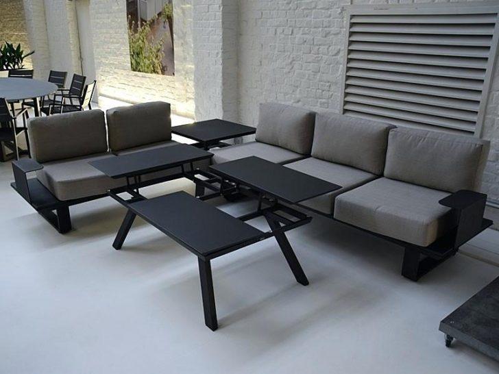 Salon de jardin d'angle aluminium
