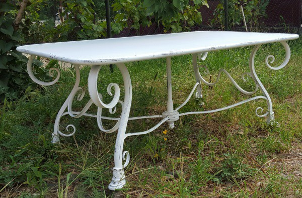 Table salon de jardin fer forgé - Mailleraye.fr jardin
