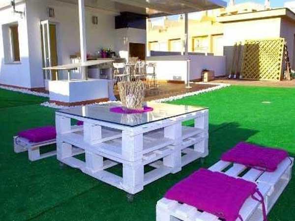 Table basse salon de jardin en palette - Mailleraye.fr jardin