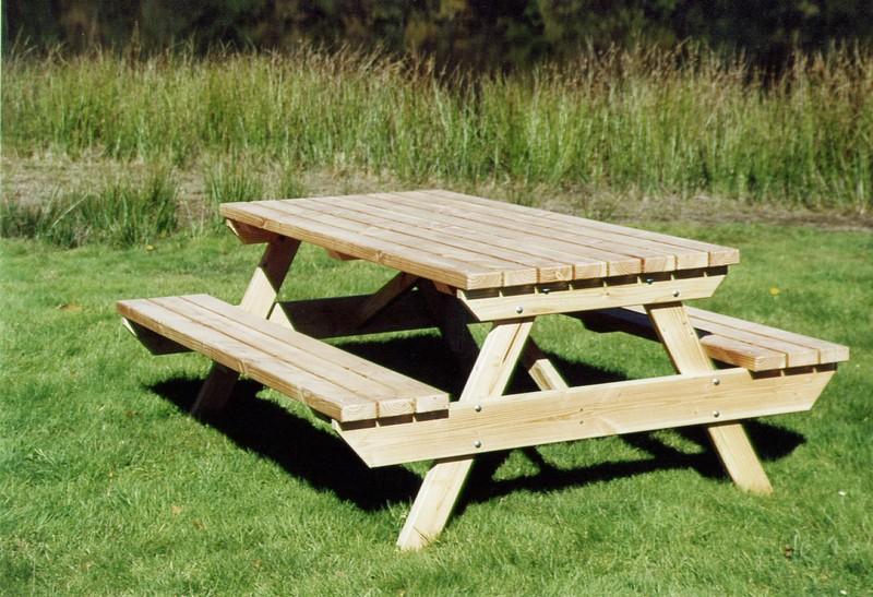 table jardin bois - Mobilier Jardin Bois