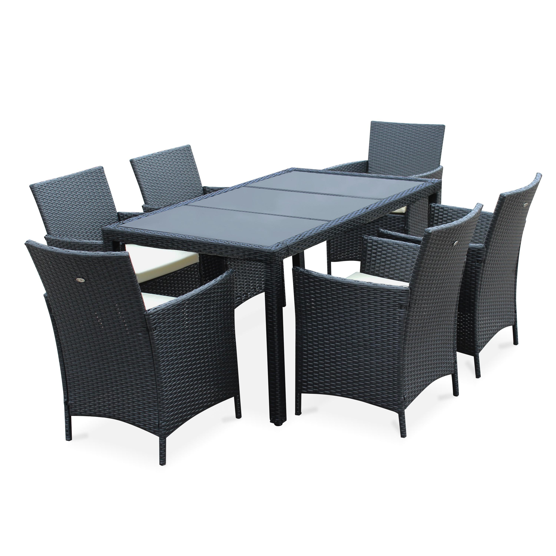 Table jardin résine tressée - Mailleraye.fr jardin