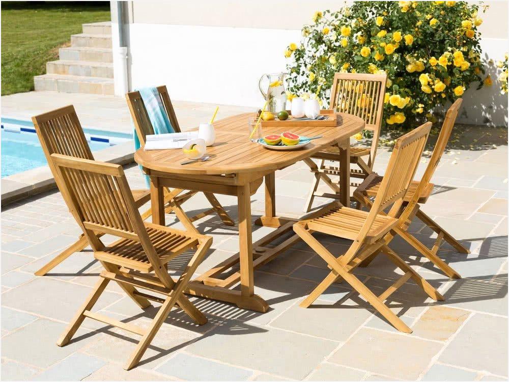 Table et chaise de jardin en teck pas cher