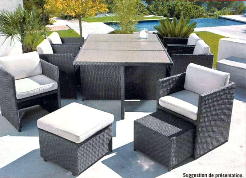 Table basse salon de jardin leclerc
