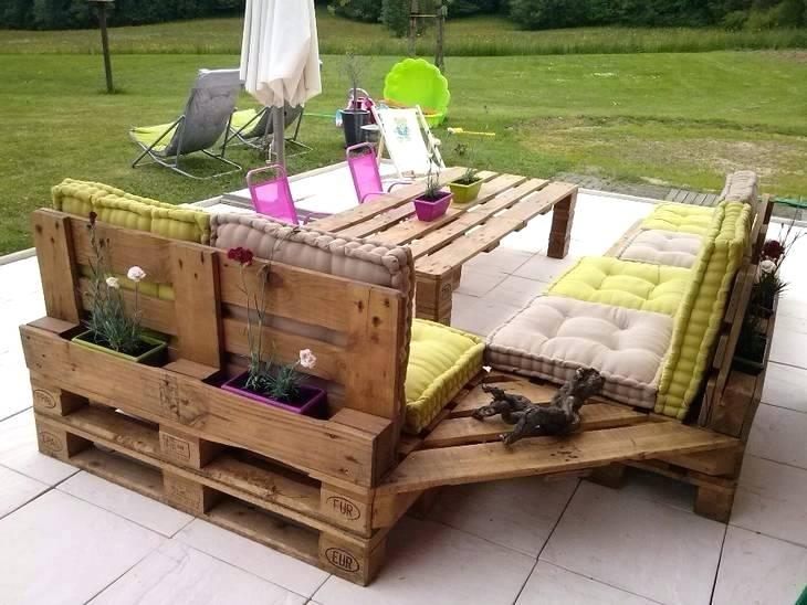 Salon de jardin fait avec palette - Mailleraye.fr jardin