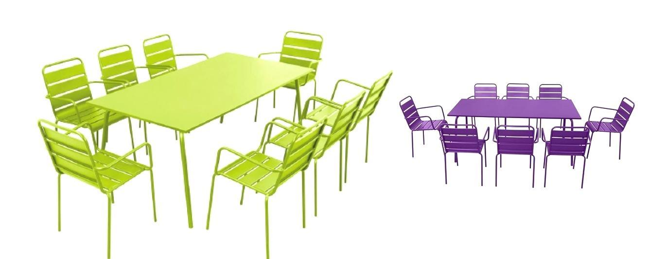Table et chaise de jardin metal jardin - Table de jardin tresse pas cher ...