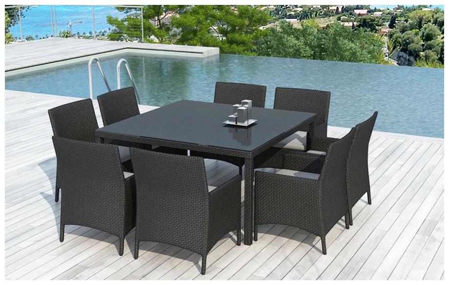 Table et chaise de jardin en resine - Mailleraye.fr jardin