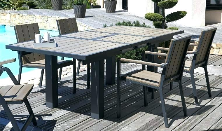 Emejing Table Salon De Jardin Aluminium Et Composite Ideas - House ...