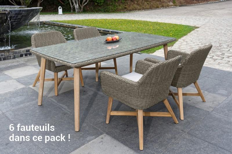 Table tressée jardin