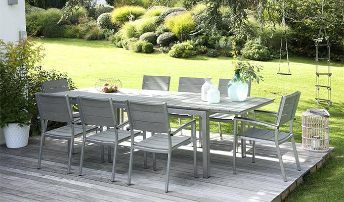 Table salon de jardin promo