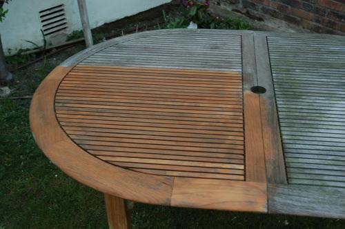 Traitement mobilier de jardin en teck - Mailleraye.fr jardin