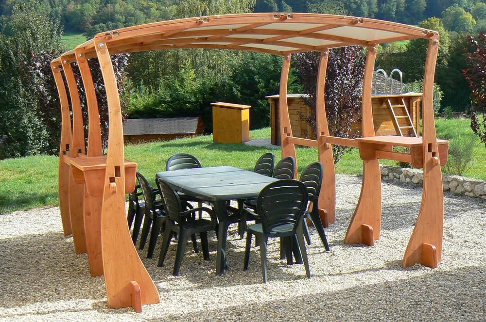 Salon de jardin en bois rustique - Mailleraye.fr jardin