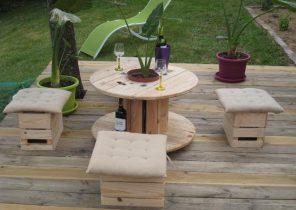 Salon de jardin avec un touret - Mailleraye.fr jardin