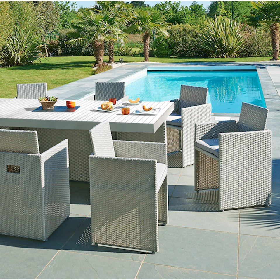 Table et chaise de jardin resine - Mailleraye.fr jardin