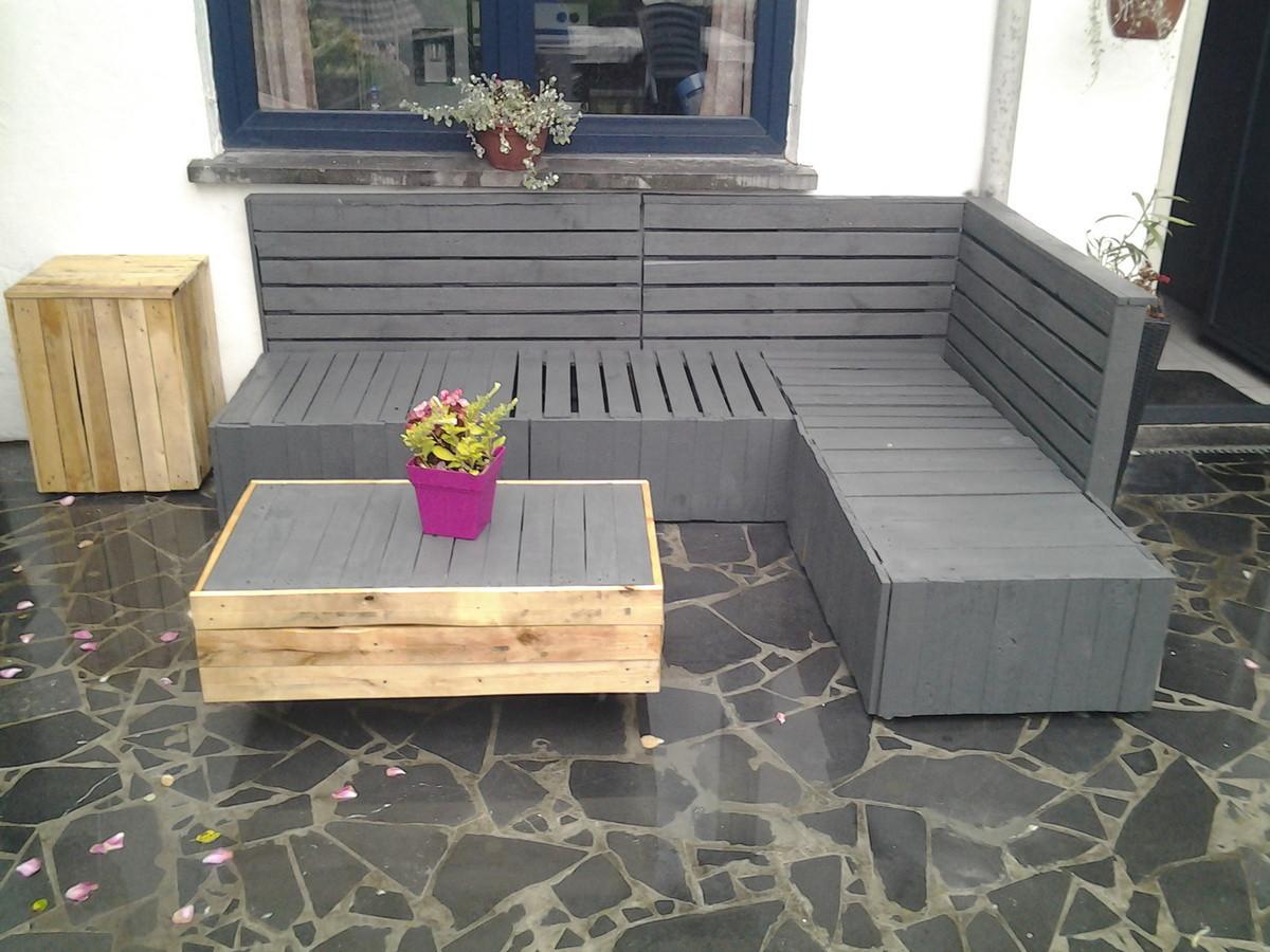 Conception salon de jardin en palette
