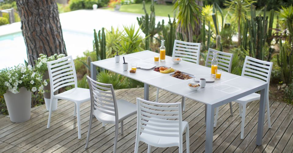 Stunning Table De Jardin Extensible Mr Bricolage Photos - House ...