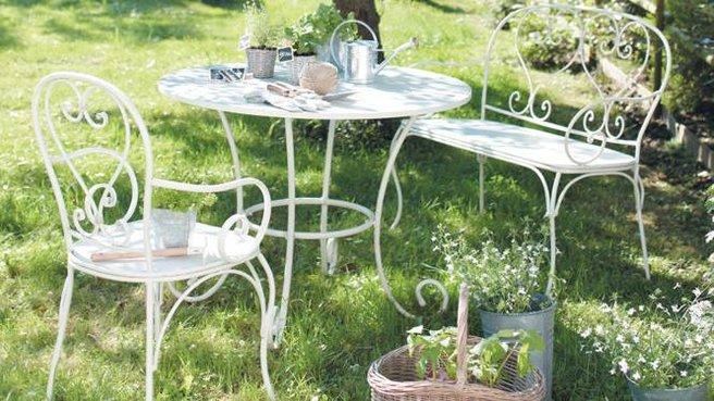 Mobilier de jardin metal couleur - Mailleraye.fr jardin