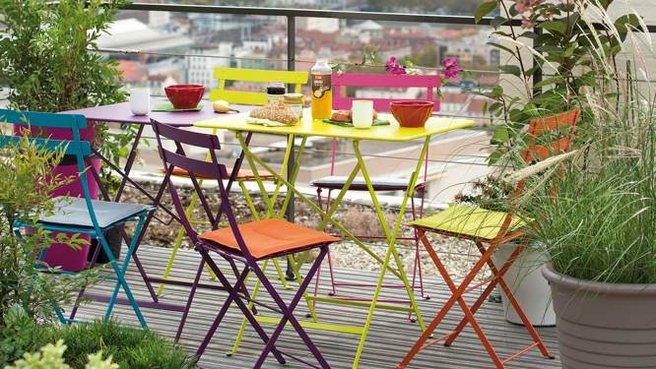 Salon de jardin fer forgé couleur - Mailleraye.fr jardin
