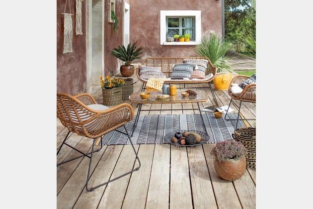 Jardiland salon de jardin en rotin