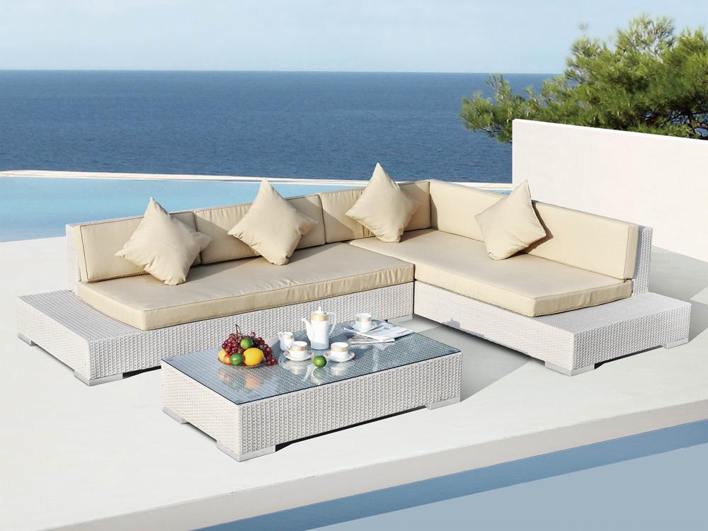 Salon de jardin en resine blanc - Mailleraye.fr jardin