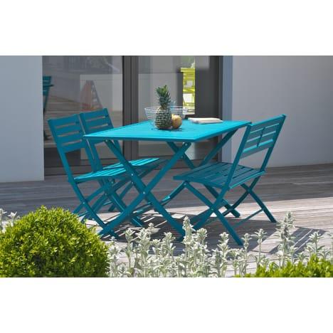 Salon de jardin couleur bleue - Mailleraye.fr jardin