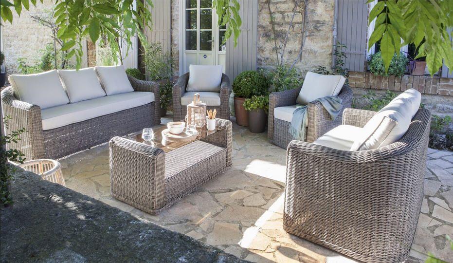Salon de jardin en resine alinea - Mailleraye.fr jardin